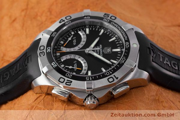 Used luxury watch Tag Heuer Aquaracer chronograph steel quartz Kal. S Ref. CAF7010  | 153449 05