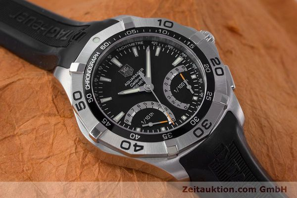 Used luxury watch Tag Heuer Aquaracer chronograph steel quartz Kal. S Ref. CAF7010  | 153449 14