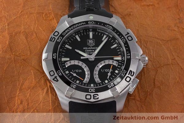 Used luxury watch Tag Heuer Aquaracer chronograph steel quartz Kal. S Ref. CAF7010  | 153449 15