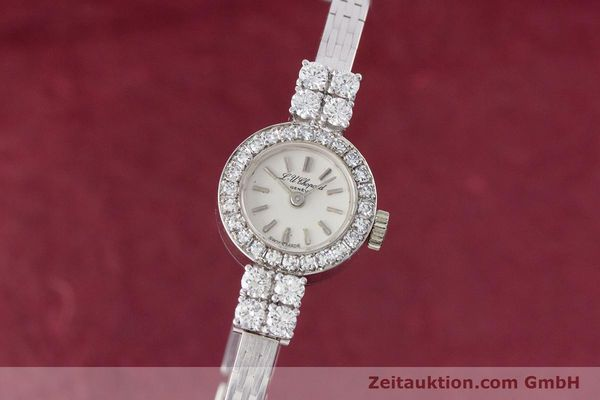 Used luxury watch Chopard * 18 ct white gold manual winding Kal. Felsa 4520 Ref. G2455  | 153450 04