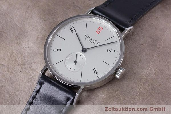 Used luxury watch Nomos Tangente steel manual winding Kal. Alpha  | 153452 01