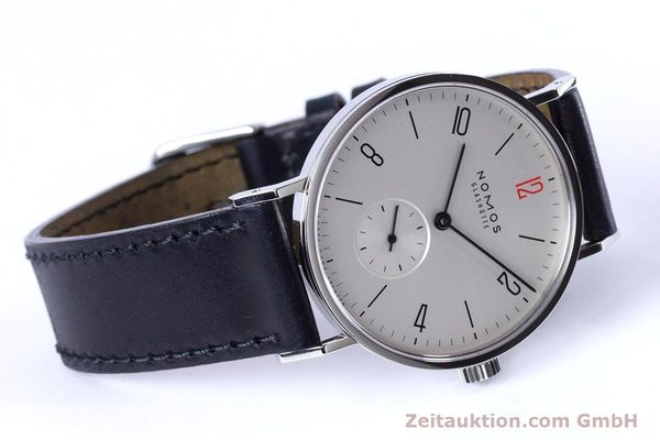 Used luxury watch Nomos Tangente steel manual winding Kal. Alpha  | 153452 03