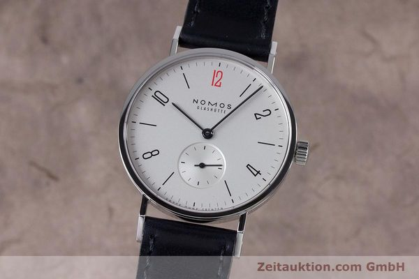 Used luxury watch Nomos Tangente steel manual winding Kal. Alpha  | 153452 04