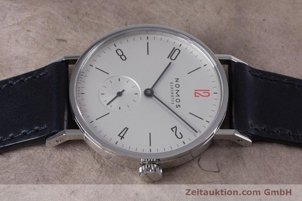 Used luxury watch Nomos Tangente steel manual winding Kal. Alpha  | 153452 05