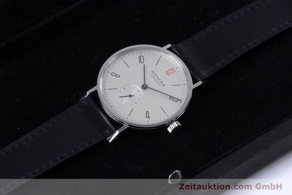 Used luxury watch Nomos Tangente steel manual winding Kal. Alpha  | 153452 07