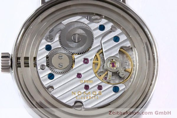 Used luxury watch Nomos Tangente steel manual winding Kal. Alpha  | 153452 09