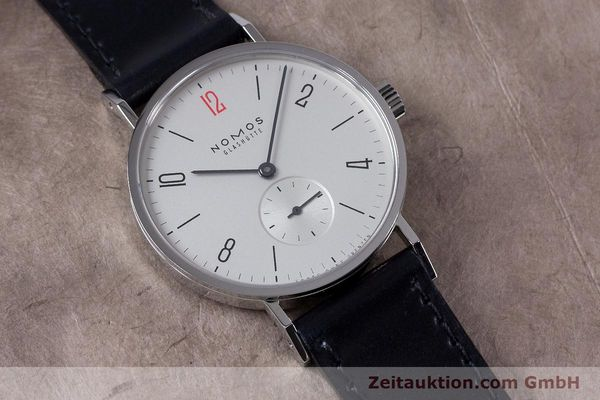 Used luxury watch Nomos Tangente steel manual winding Kal. Alpha  | 153452 16