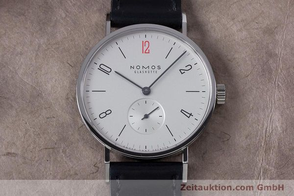Used luxury watch Nomos Tangente steel manual winding Kal. Alpha  | 153452 17