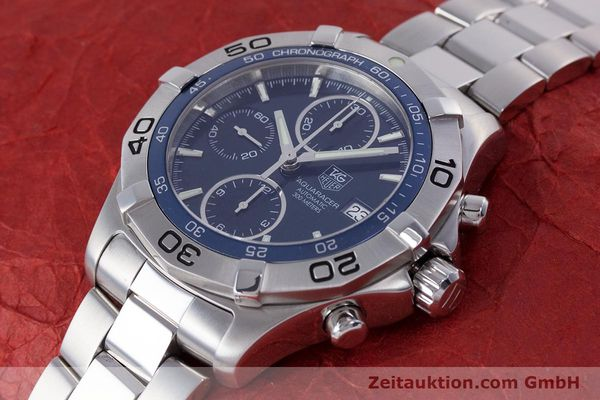 Used luxury watch Tag Heuer Aquaracer chronograph steel automatic Kal. 16 ETA 7750 Ref. CAF2112  | 153470 01