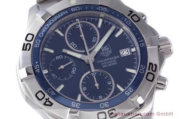 Used luxury watch Tag Heuer Aquaracer chronograph steel automatic Kal. 16 ETA 7750 Ref. CAF2112  | 153470 02
