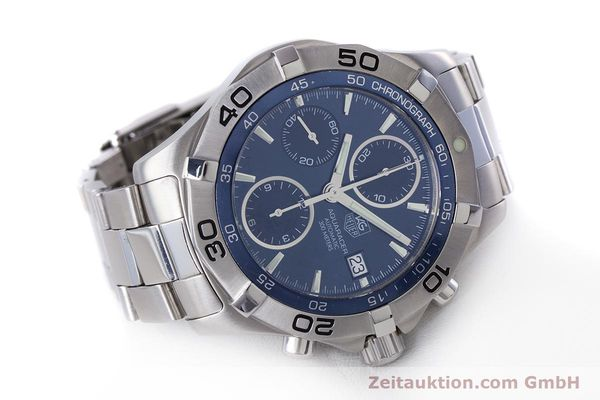 Used luxury watch Tag Heuer Aquaracer chronograph steel automatic Kal. 16 ETA 7750 Ref. CAF2112  | 153470 03