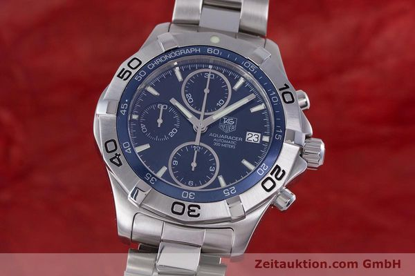 Used luxury watch Tag Heuer Aquaracer chronograph steel automatic Kal. 16 ETA 7750 Ref. CAF2112  | 153470 04