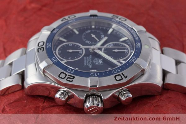 Used luxury watch Tag Heuer Aquaracer chronograph steel automatic Kal. 16 ETA 7750 Ref. CAF2112  | 153470 05