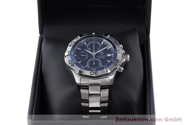 Used luxury watch Tag Heuer Aquaracer chronograph steel automatic Kal. 16 ETA 7750 Ref. CAF2112  | 153470 07
