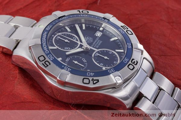 Used luxury watch Tag Heuer Aquaracer chronograph steel automatic Kal. 16 ETA 7750 Ref. CAF2112  | 153470 13