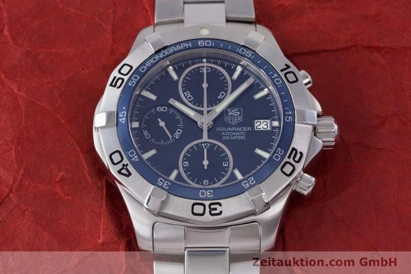 Used luxury watch Tag Heuer Aquaracer chronograph steel automatic Kal. 16 ETA 7750 Ref. CAF2112  | 153470 14