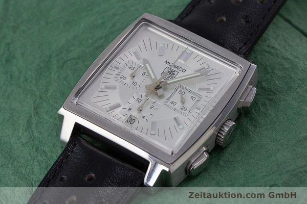 Used luxury watch Tag Heuer Monaco chronograph steel automatic Kal. 17 ETA 2894-2 Ref. CW2112  | 153482 01
