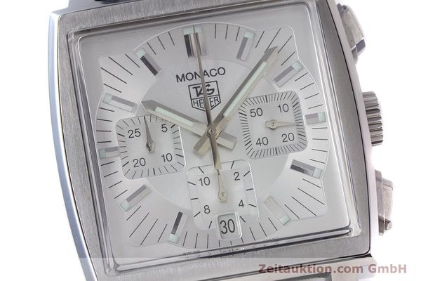 Used luxury watch Tag Heuer Monaco chronograph steel automatic Kal. 17 ETA 2894-2 Ref. CW2112  | 153482 02