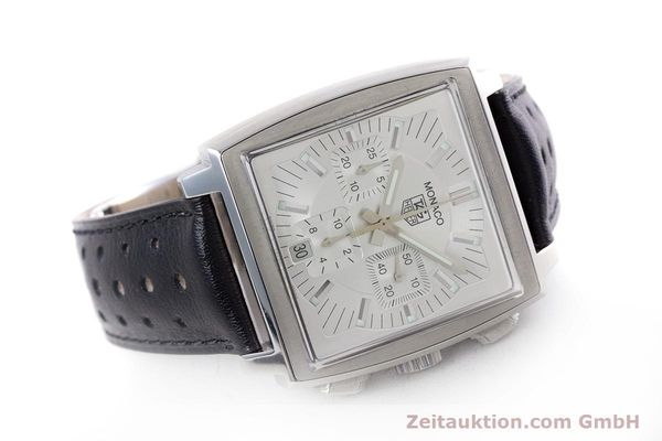 Used luxury watch Tag Heuer Monaco chronograph steel automatic Kal. 17 ETA 2894-2 Ref. CW2112  | 153482 03