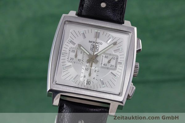 Used luxury watch Tag Heuer Monaco chronograph steel automatic Kal. 17 ETA 2894-2 Ref. CW2112  | 153482 04