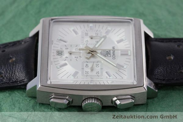 Used luxury watch Tag Heuer Monaco chronograph steel automatic Kal. 17 ETA 2894-2 Ref. CW2112  | 153482 05