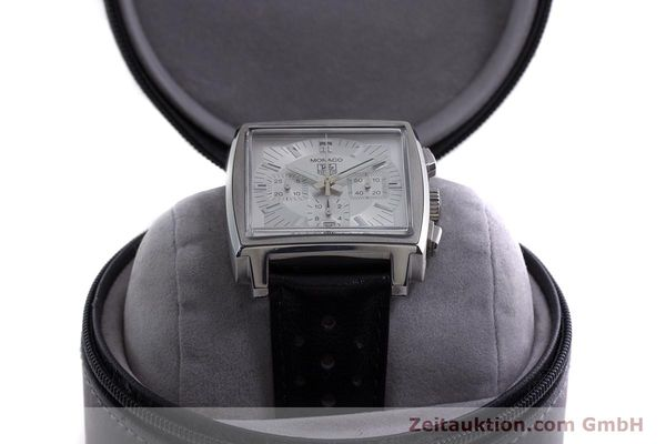 Used luxury watch Tag Heuer Monaco chronograph steel automatic Kal. 17 ETA 2894-2 Ref. CW2112  | 153482 07