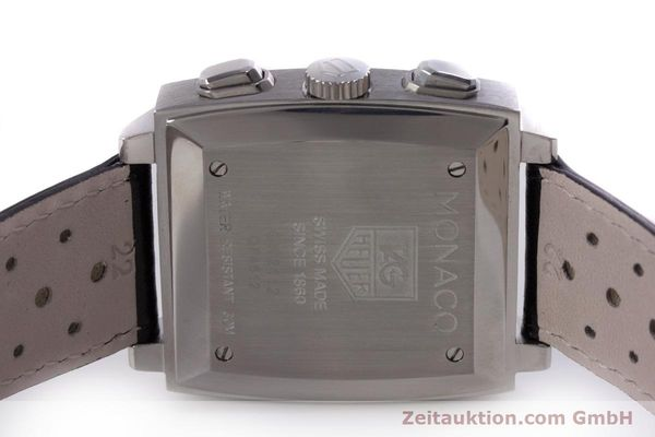 Used luxury watch Tag Heuer Monaco chronograph steel automatic Kal. 17 ETA 2894-2 Ref. CW2112  | 153482 09