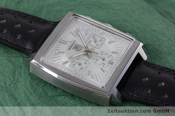 Used luxury watch Tag Heuer Monaco chronograph steel automatic Kal. 17 ETA 2894-2 Ref. CW2112  | 153482 16