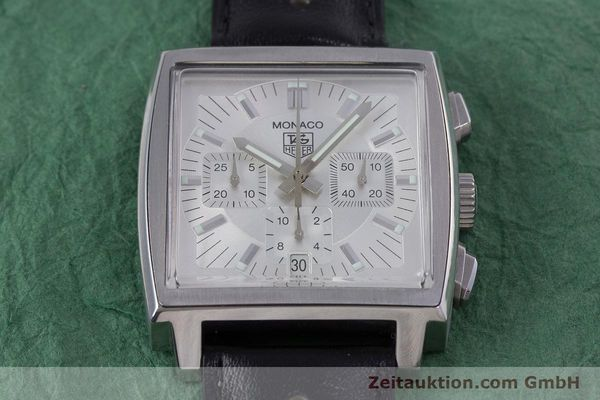 Used luxury watch Tag Heuer Monaco chronograph steel automatic Kal. 17 ETA 2894-2 Ref. CW2112  | 153482 17