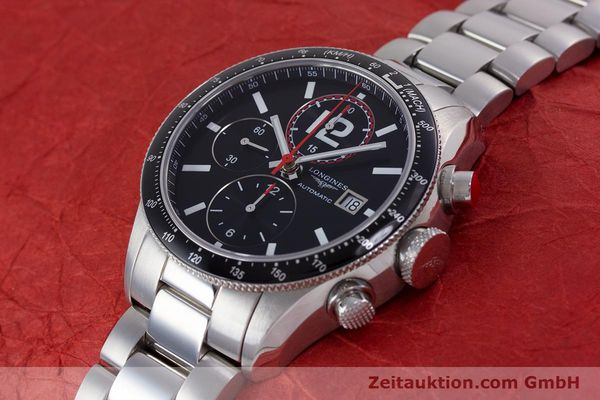 Used luxury watch Longines Grande Vitesse chronograph steel automatic Kal. L667.2 ETA 7750 Ref. L3.636.4  | 153489 01