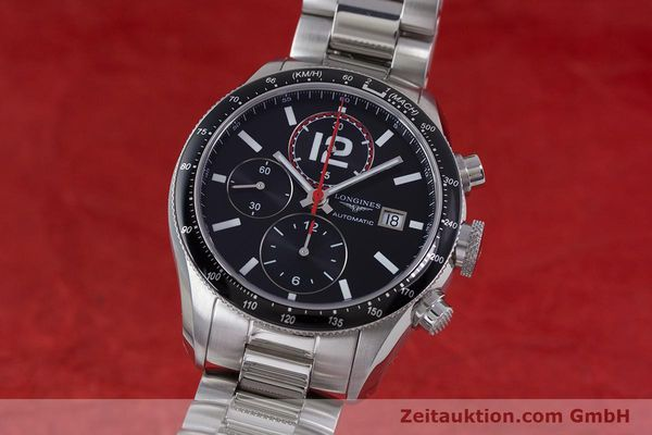 Used luxury watch Longines Grande Vitesse chronograph steel automatic Kal. L667.2 ETA 7750 Ref. L3.636.4  | 153489 04