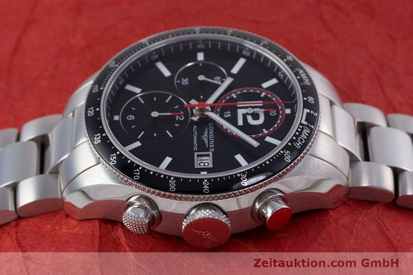 Used luxury watch Longines Grande Vitesse chronograph steel automatic Kal. L667.2 ETA 7750 Ref. L3.636.4  | 153489 05