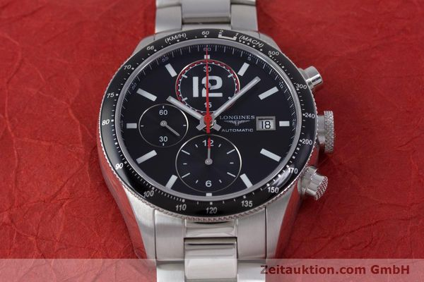 Used luxury watch Longines Grande Vitesse chronograph steel automatic Kal. L667.2 ETA 7750 Ref. L3.636.4  | 153489 17