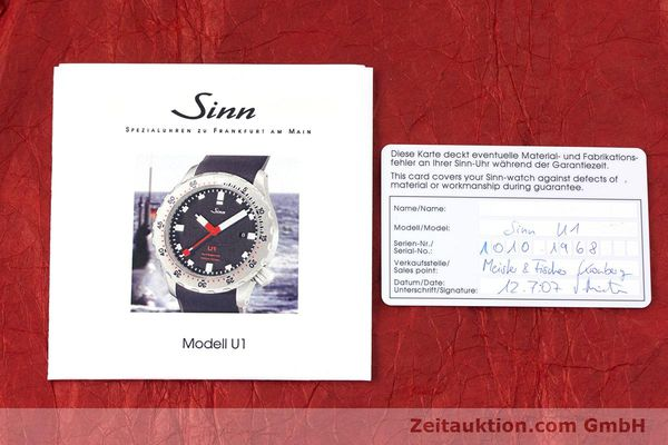 Used luxury watch Sinn U1 steel automatic Kal. ETA 2824-2  | 153491 08