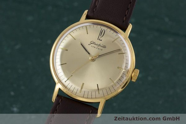 Used luxury watch Glashütte * gold-plated manual winding Kal. 70.1 VINTAGE  | 153497 04