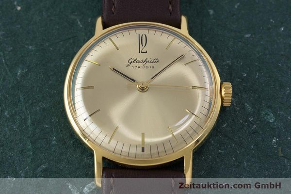 Used luxury watch Glashütte * gold-plated manual winding Kal. 70.1 VINTAGE  | 153497 13