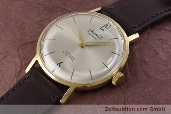 Used luxury watch Glashütte * gold-plated manual winding Kal. 70.1  | 153513 01
