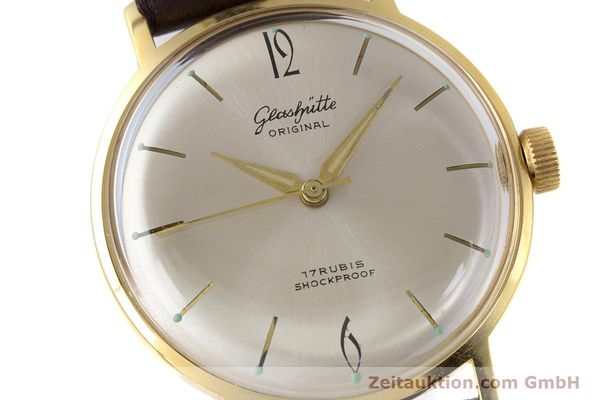 Used luxury watch Glashütte * gold-plated manual winding Kal. 70.1  | 153513 02