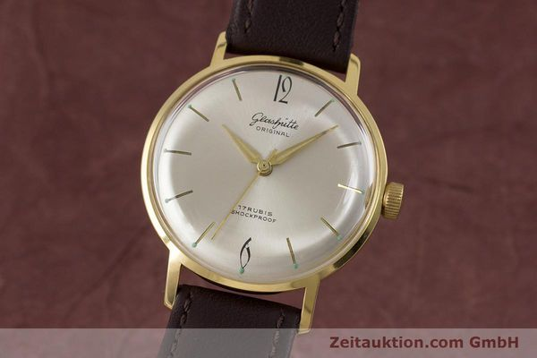 Used luxury watch Glashütte * gold-plated manual winding Kal. 70.1  | 153513 04