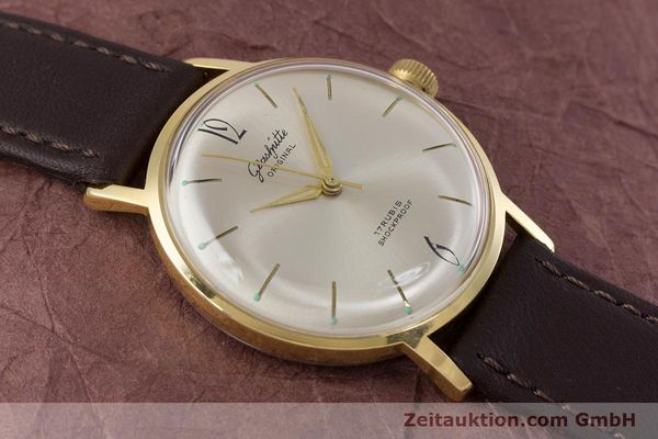Used luxury watch Glashütte * gold-plated manual winding Kal. 70.1  | 153513 12