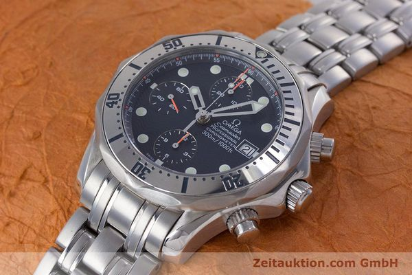 Used luxury watch Omega Seamaster chronograph steel automatic Kal. 1164 Ref. 25988000  | 153516 01