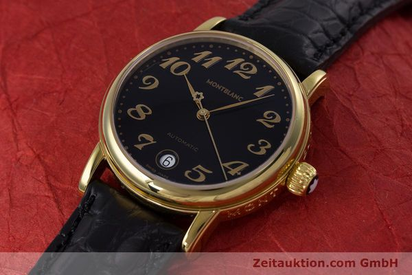 Used luxury watch Montblanc Meisterstück gold-plated automatic Kal. ETA 2892A2 Ref. 7004  | 153525 01