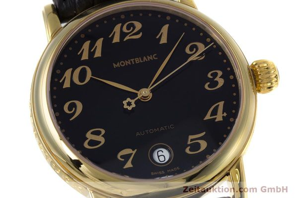 Used luxury watch Montblanc Meisterstück gold-plated automatic Kal. ETA 2892A2 Ref. 7004  | 153525 02