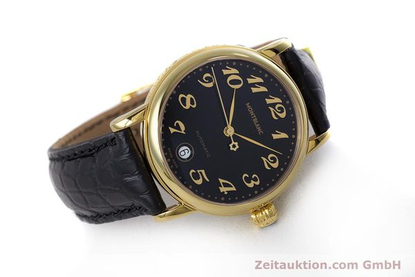 Used luxury watch Montblanc Meisterstück gold-plated automatic Kal. ETA 2892A2 Ref. 7004  | 153525 03