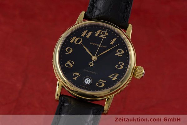 Used luxury watch Montblanc Meisterstück gold-plated automatic Kal. ETA 2892A2 Ref. 7004  | 153525 04