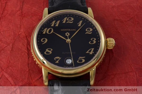 Used luxury watch Montblanc Meisterstück gold-plated automatic Kal. ETA 2892A2 Ref. 7004  | 153525 15