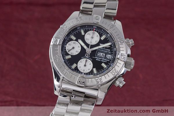 Used luxury watch Breitling Superocean Chronograph chronograph steel automatic Kal. B13 ETA 7750 Ref. A13340  | 153526 04