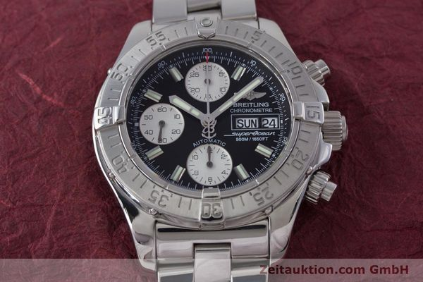 Used luxury watch Breitling Superocean Chronograph chronograph steel automatic Kal. B13 ETA 7750 Ref. A13340  | 153526 16