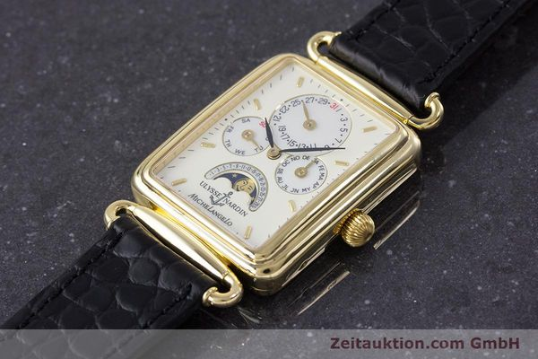 Used luxury watch Ulysse Nardin Michelangelo 18 ct gold automatic Kal. 16-5 Ref. 161-42  | 153532 01