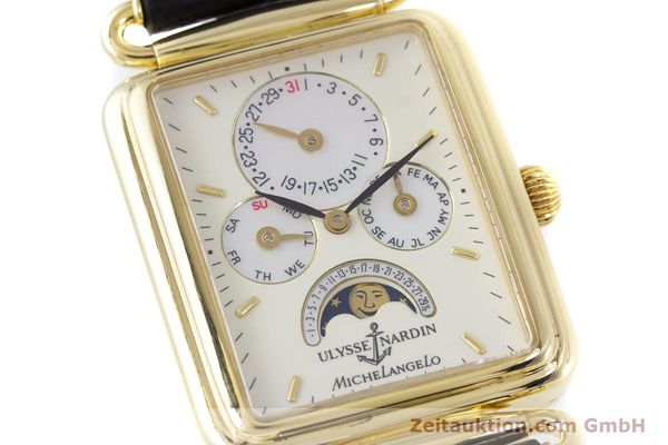 Used luxury watch Ulysse Nardin Michelangelo 18 ct gold automatic Kal. 16-5 Ref. 161-42  | 153532 02